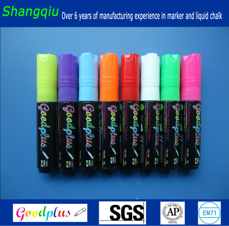 non toxic neon dry wipe chalk marker blackboard pens fm 458