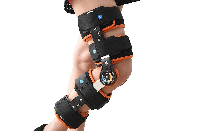 9ac57834ea Get Quotations · Orthopedic Adjustable Hinged Knee Braces Supports Orthotics  Devices Free SizeHRL