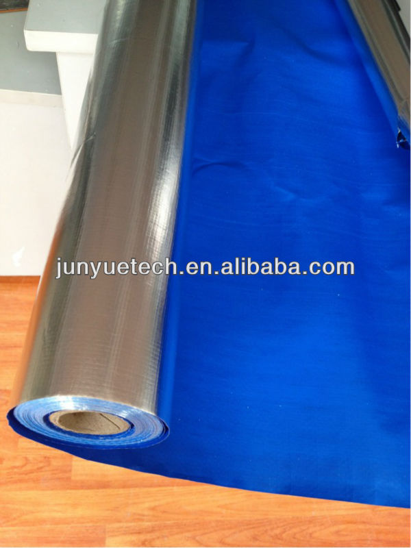 PE woven fabric, aluminum foil coated insulation, aluminum foil woven fabric thermal insulation material with blue PE film