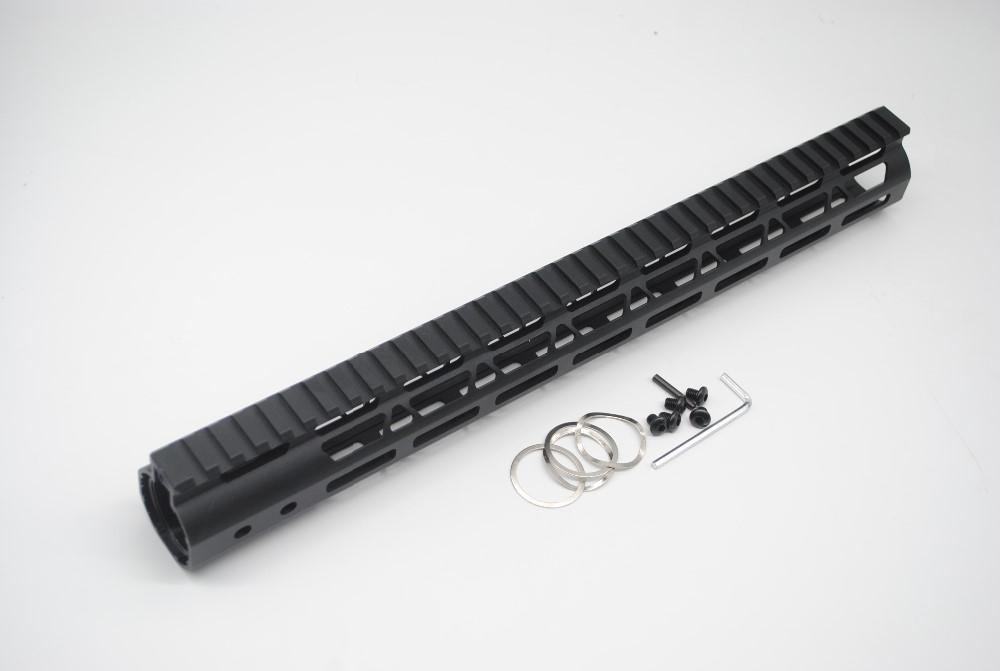 New Style Lightweight 15 inch One Piece Style Rail System M-LOK Free Float AR15 Handguard
