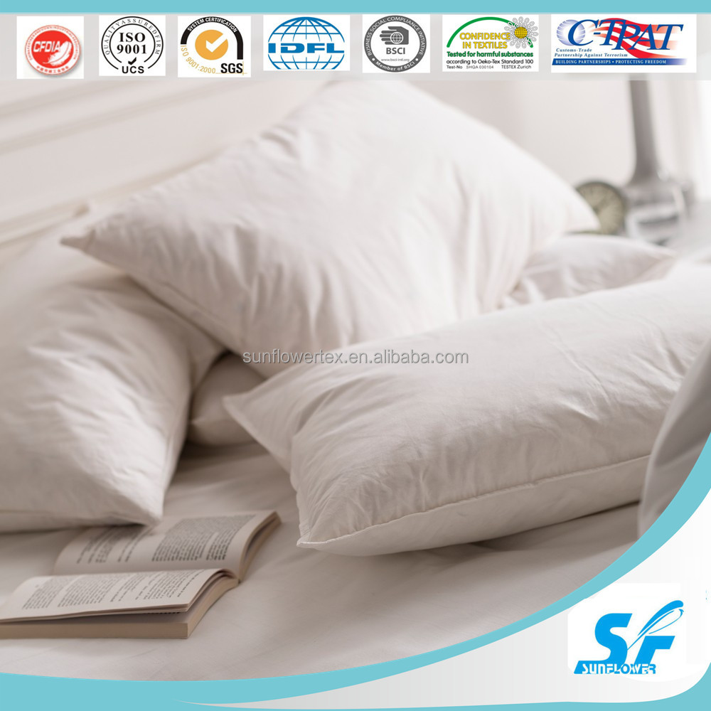 Home decorative down feather filling square/U/V shape / bloster pillow
