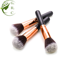 MGJSF Zwart Grote Enkele Rose Goud Grote Custom Logo Kabuki Make Up Cosmetische Private Label Gezicht <span class=keywords><strong>Make-Up</strong></span> Blush Losse <span class=keywords><strong>Poeder</strong></span> borstel