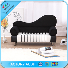 Elegant sectional children sofa 2 seater piano sofa chair