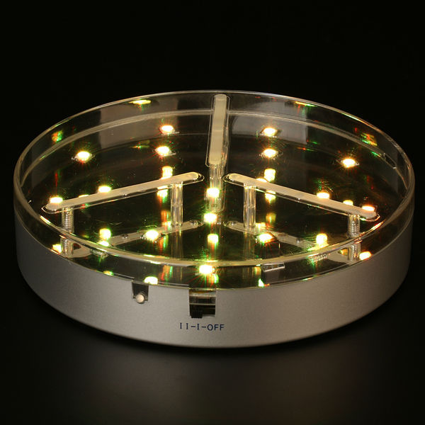 6 Inch Round LED Light Base For Party Use/Party Supplies Vase Base For Centerpieces