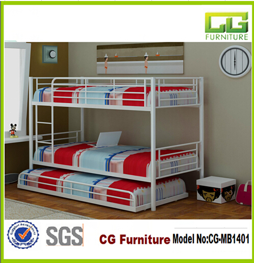 2016 Popular White Metal Bunk Bed With Trundle Storage Bed From China Professional Manufacturer Buy Popular Metal Triple Bed In White Metal Triple Bed Bunk Bed Product On Alibaba Com