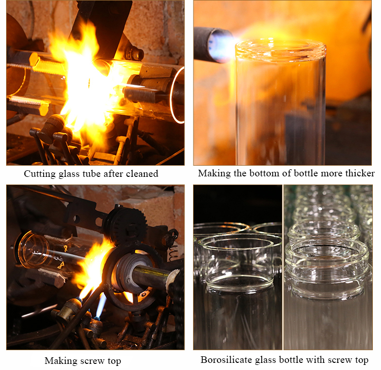 200ml 300ml Handmade Borosilicate Heat Resistant Double Wall Drinking Glass Tumbler Glass Water Cup
