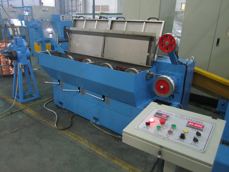 Electric copper wire drawing machine used for cable manufacturing