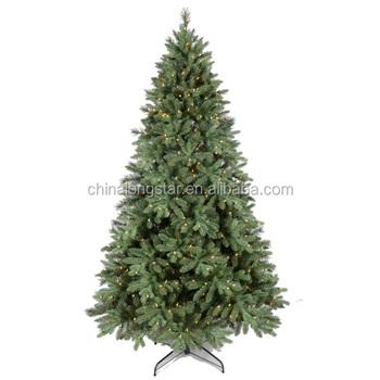7ft Pre Lit Folding Build Pvc Christmas Tree Fancy Led Lighted