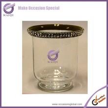 k5487 weinflasche kerzenhalter einsatz mit strass klarglas marokkanische kerzenhalter - Kamin Kerzenhaltereinsatz