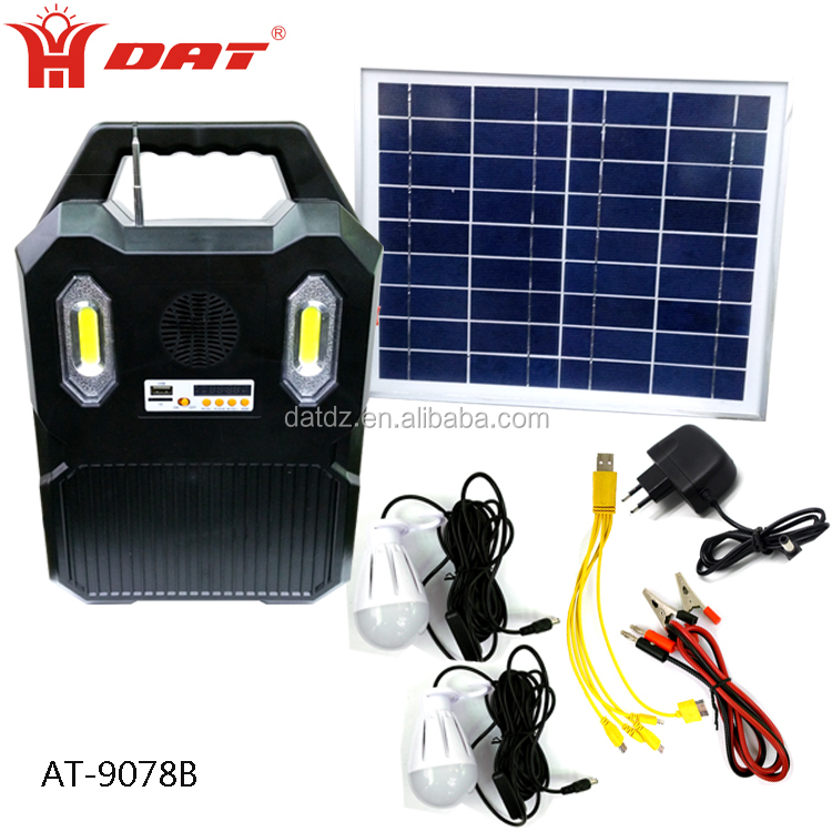 Portable Solar System For Usb Charge And Lighting Kit With Mp3 Radio Function 12v Led