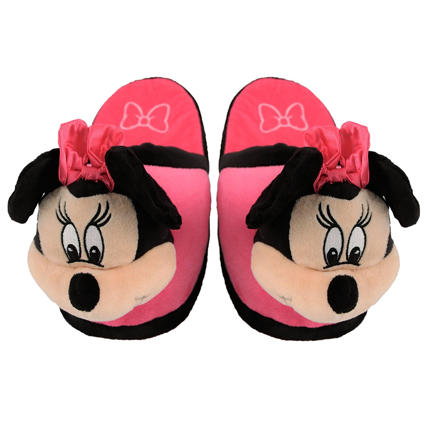 7a9dbbfaf2d Get Quotations · Stompeez Animated Minnie Mouse Plush Slippers - Ultra Soft  and Fuzzy - Ears Flap as You