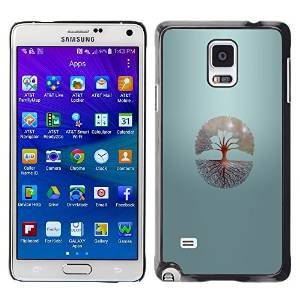 Smartphone Protective Case Hard Shell Cover for Cellphone Samsung Galaxy Note 4 / CECELL Phone case / / Tree Of Life /