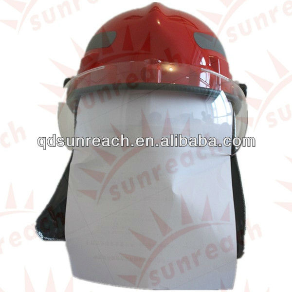 Rescue Fire Fighting Protective Flame Retardant Safety Fireman Helmet with Visor