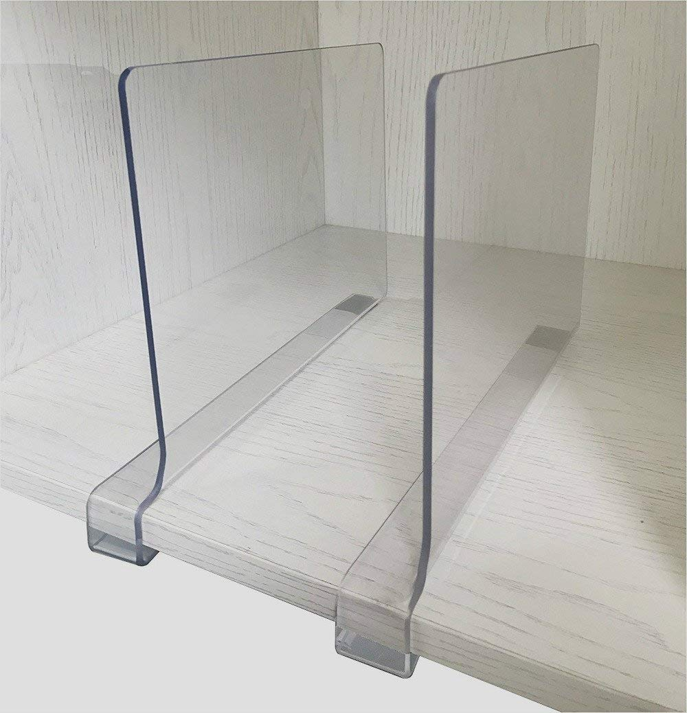 Get Quotations · 4PCS Multifunction Acrylic Shelf Dividers Closets Shelf  And Closet Separator Wood Closet   Skroutz