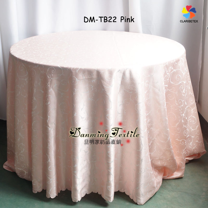 Fancy Polyester Round Tablecloth And Table Cover For Wedding Decor