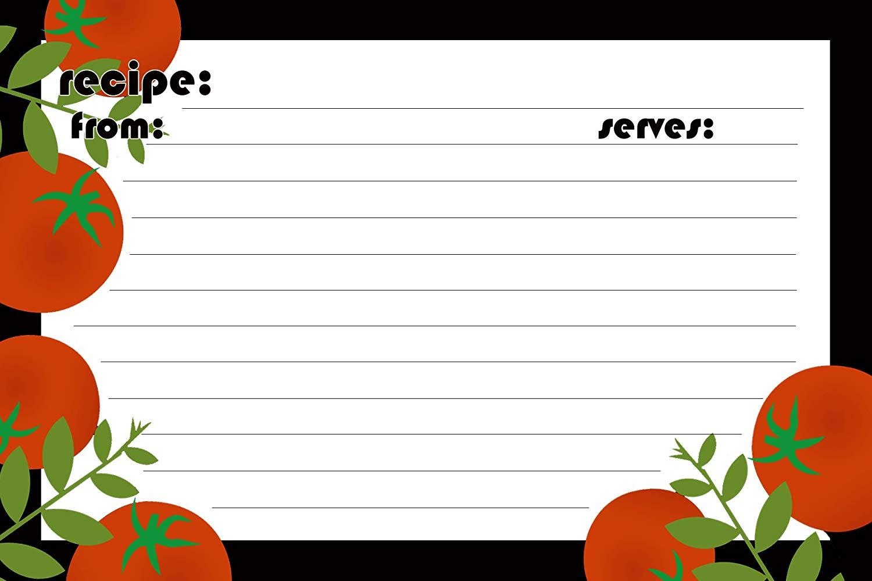 Meadowsweet Kitchens Recipe Card Set - Red Tomato