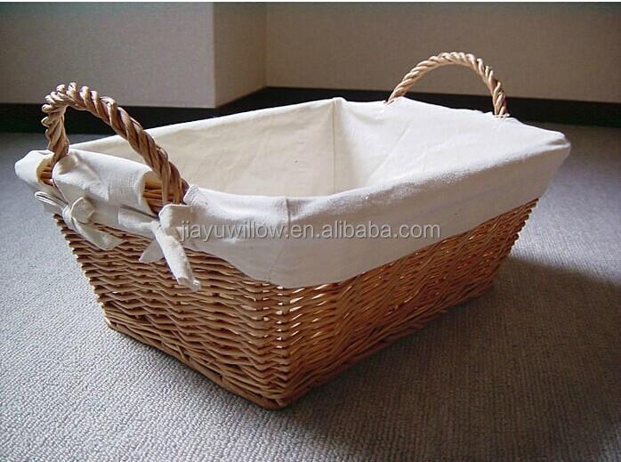 Handmade Oval Wicker Christmas Gift Basket Empty Wicker