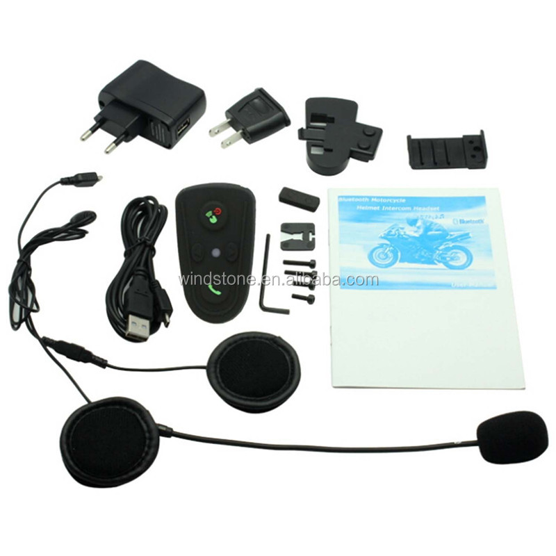 Fábrica Atacado Full Duplex 800 Metros 2 Pilotos BT Interphone Bluetooth Capacete Da Motocicleta Interfone