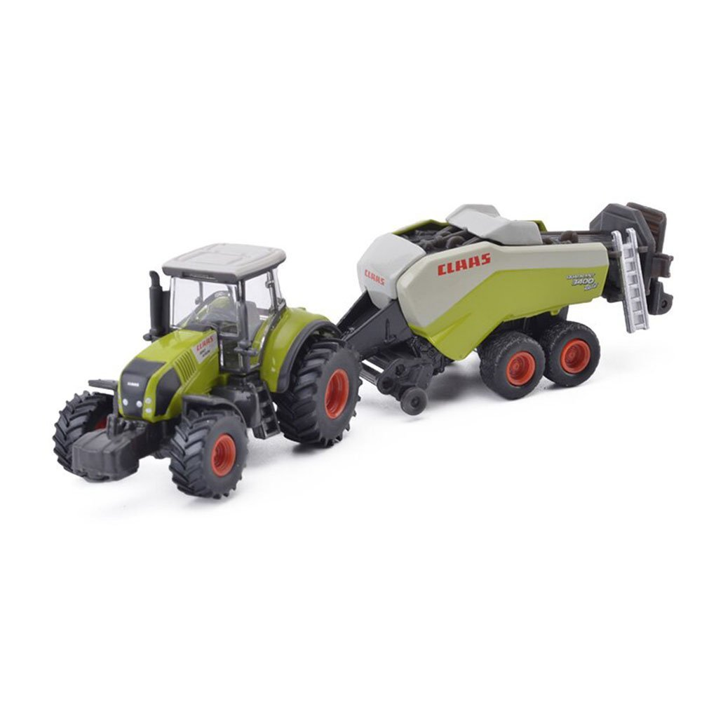Get Quotations · VISTON 1:87 Alloy Metal Model Claas Axion mit  GroBpackenpresse with laege square baler avec