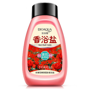rose bath salt whitening fresh body skin bath salt OEM