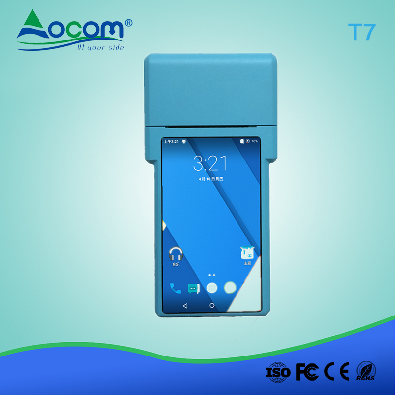Restaurant portatif androïde 3g 4g mobile pda terminal de données