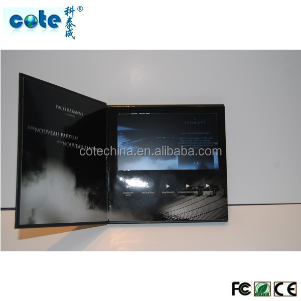 7 inch TFT True Color Video Screen Folded Brochure Digital video greeting card