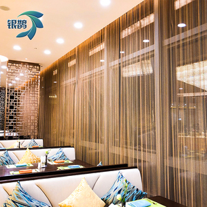 The golden metal mesh curtain for outdoor decoration wire mesh