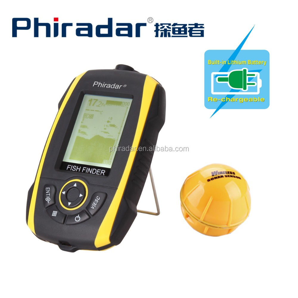 2015 New Arrival IPX67 waterproof 4 Levels Grayscale Portable Wireless Sonar Fish Finder