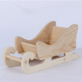 desktop decorative wood sled mini wooden christmas sleigh for sale - Wooden Sled Decoration Christmas