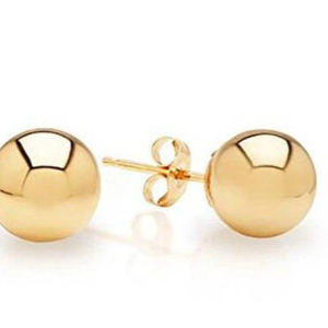 Gold Ball Stainless Steel Stud Earring Ear Stud Earring Women
