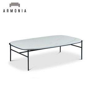 Living Room Furniture Modern Design White Ceramic Top Coffee Table