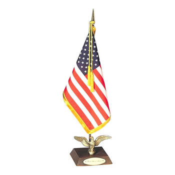 Custom Office Indoor Flag With Desk Pole