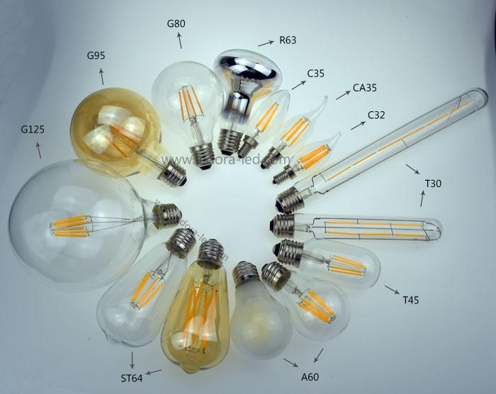 enery saving best price led 4000k dimmable vintage led filament edison bulb