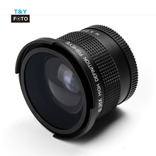 52-58mm 0.35X HD Professionele Super Fisheye Groothoek camera <span class=keywords><strong>Lens</strong></span> breed/Macro Close Up <span class=keywords><strong>Lens</strong></span> Voor <span class=keywords><strong>DSLR</strong></span> Camera
