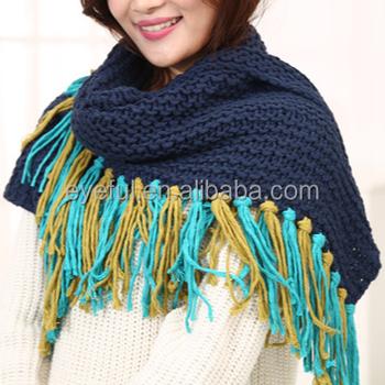 2018 Winter Knitting Pattern Lady Beautiful Shawl Acrylic Muffler