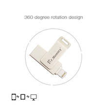 USB 32GBFor iPhone PC Two-usb Computer U Disk 32gb Triad High-Speed OTG USB Flash Drive