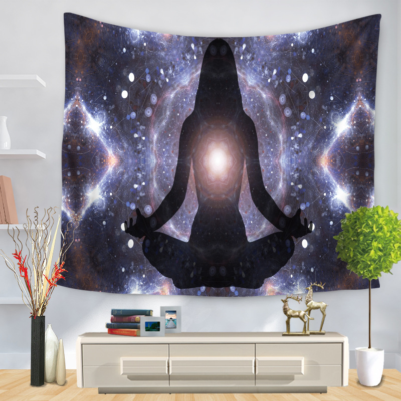 Colorful Psychedelic  Fashion Indian Hippie Thin 100% Polyester Fabric Tapestry