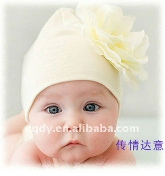 Fashion Beauty Baby Hat with Flower cotton infant kids hair hat headband 0955e10f437