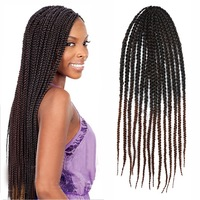 Fahion hot sales afro lace front box braid wig for black women