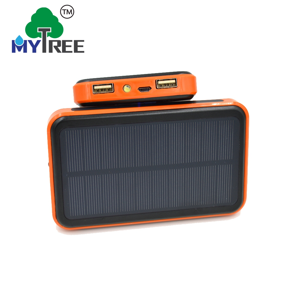 Mytree Mini Portable Slim 10000mah Solar Powered Panel Battery Charger Mobile Cell Phone Usb Solar Power Bank Charger