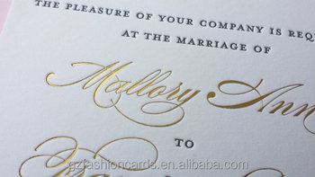 Gold Foil Printing Wedding Invitations