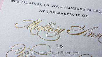 script gold foil printing wedding invitations buy script gold foil