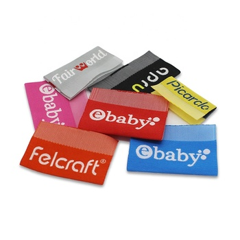 Manufacturer clothing name fabric cheap woven garment labels