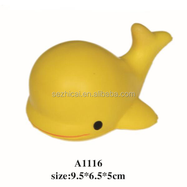 Golden Whale Shaped Polyurethane Toy,Promotional Gift