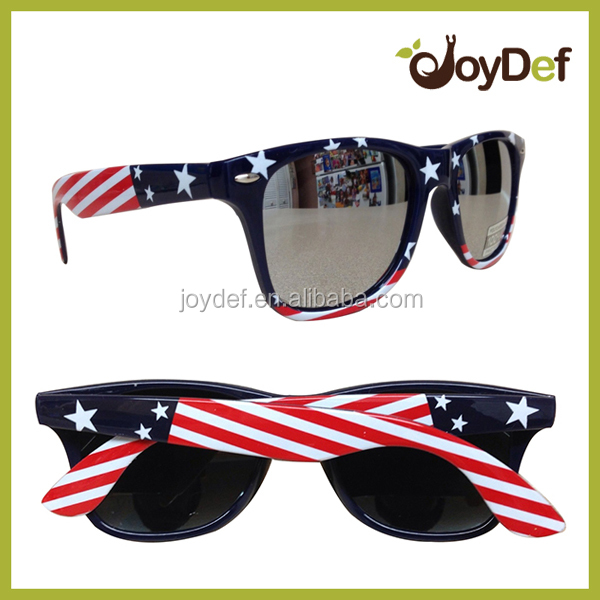 mirror Sunglasses American Flag sun glasses Patriotic Fashion USA Flag CE USA flag Sunglasses