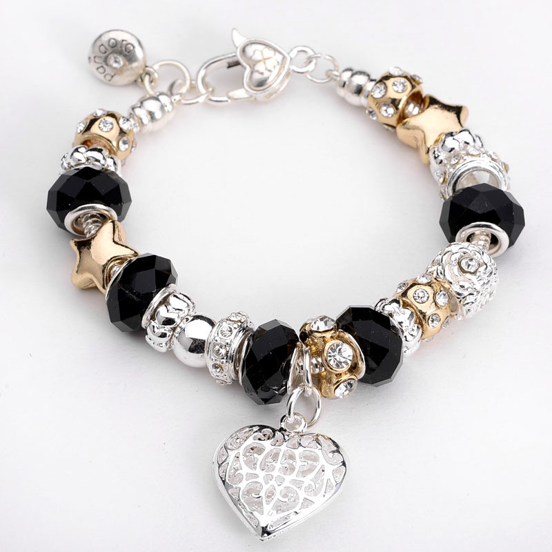 Crown Charm Bracelet: Fashion-Jewelry-11-Style-Crown-charm-Bracelets-Bangles