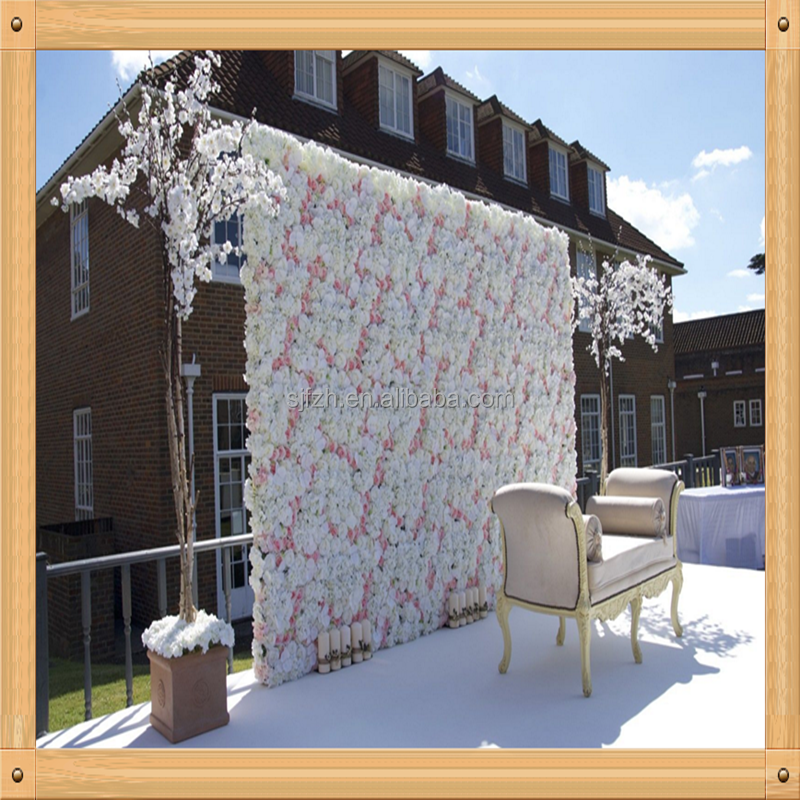 Vendeur Britannique ~ fleur artificielle mur Mariage Venue Décoration Toile Panneau Rouge