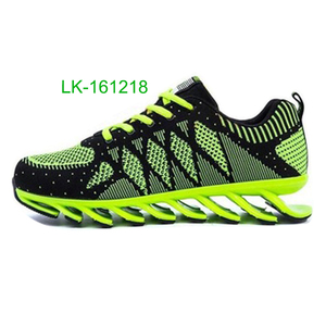 New men breathable walking blade sole running shoes
