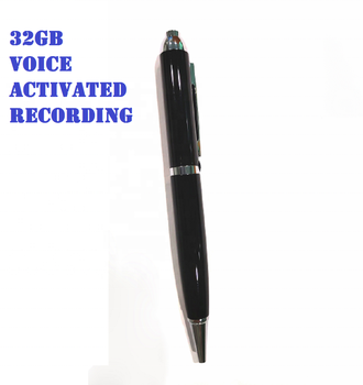 Digital Voice Activated Recorder Pen for Lectures 32GB Spy Voice Audio Recorder Pen for Meetings with Playback/MP3/USB/Writing