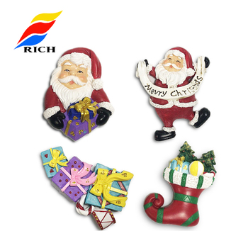 Customized Wholesale Factory Supply Resin Cute Gift Santa Claus Fridge Magnet For Kids